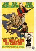 "Movie Posters:Western, Rio Bravo (Warner Bros., 1959). Folded, Fine+. Italian 4 - Fogli (55"" X 77.5"") Averardo Ciriello Artwork.. ..."