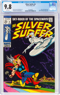 The Silver Surfer #4 (Marvel, 1969) CGC NM/MT 9.8 White pages