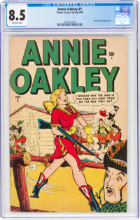 Annie Oakley #1 (Timely/Atlas, 1948) CGC VF+ 8.5 Off-white pages