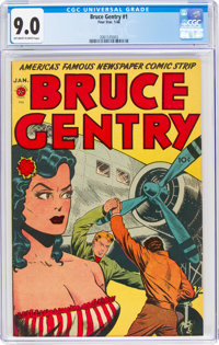 Bruce Gentry #1 (Superior Comics, 1948) CGC VF/NM 9.0 Off-white to white pages