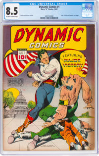 Dynamic Comics #1 (Chesler, 1941) CGC VF+ 8.5 Off-white to white pages