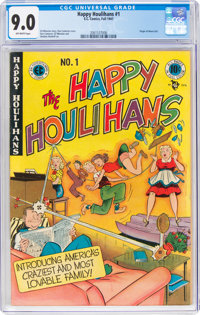 The Happy Houlihans #1 (EC, 1947) CGC VF/NM 9.0 Off-white pages