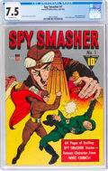 Golden Age (1938-1955):Adventure, Spy Smasher #1 (Fawcett Publications, 1941) CGC VF- 7.5 Off-white pages....