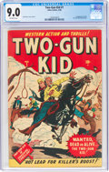 Golden Age (1938-1955):Western, Two-Gun Kid #1 (Marvel, 1948) CGC VF/NM 9.0 Off-white pages....