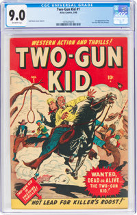 Two-Gun Kid #1 (Marvel, 1948) CGC VF/NM 9.0 Off-white pages
