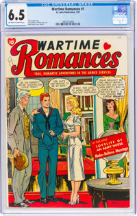 Wartime Romances #1 (St. John, 1951) CGC FN+ 6.5 Off-white to white pages