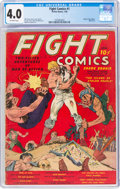 Golden Age (1938-1955):Miscellaneous, Fight Comics #1 (Fiction House, 1940) CGC VG 4.0 Off-white pages....