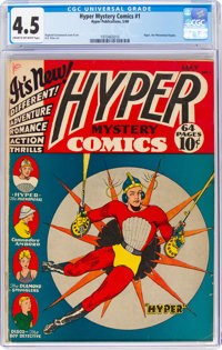 Hyper Mystery Comics #1 (Hyper Publications, 1940) CGC VG+ 4.5 Cream to off-white pages