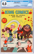 Platinum Age (1897-1937):Miscellaneous, King Comics #1 (David McKay Publications, 1936) CGC VG 4.0 Off-white pages....