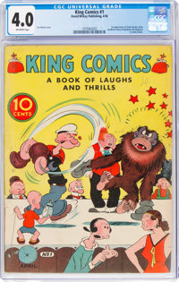 King Comics #1 (David McKay Publications, 1936) CGC VG 4.0 Off-white pages