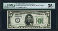 Small Size:Federal Reserve Notes, Fr. 1952-L* $5 1928B Dark Green Seal Federal Reserve Star Note. PMG Choice Very Fine 35 EPQ.. ...