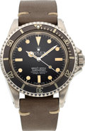 Timepieces:Wristwatch, Rolex, Ref. 5512, Oyster Perpetual Submariner, Stainless Steel, Circa 1971. ...