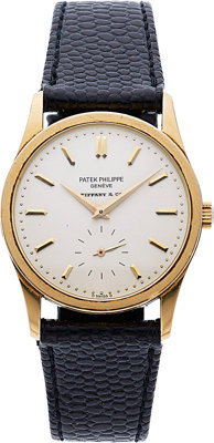 Patek Philippe, Calatrava Retailed By Tiffany & Co., 18k Yellow Gold, Ref. 3796, Circa 1983