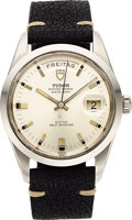 Timepieces:Wristwatch, Tudor, Ref. 7017/0, Jumbo Date-Day, Stainless Steel, Circa 1969. ...