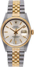 Timepieces:Wristwatch, Rolex, Two Tone Oyster Perpetual Datejust, Ref. 16233. ...