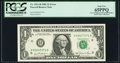 Error Notes:Miscellaneous Errors, Stuck Digit Error Fr. 1911-H $1 1981 Federal Reserve Note. PCGS Gem New 65PPQ.. ...