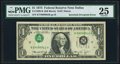 Inverted Third Printing Error Fr. 1908-K $1 1974 Federal Reserve Note. PMG Very Fine 25