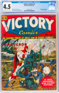 Golden Age (1938-1955):Superhero, Victory Comics #1 (Hillman Publications, 1941) CGC VG+ 4.5 Off-white to white pages....