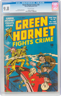 Green Hornet Comics #35 (Harvey, 1947) CGC NM/MT 9.8 Off-white pages