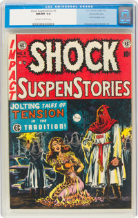 Shock SuspenStories #6 Gaines File Pedigree 4/12 (EC, 1952) CGC NM/MT 9.8 Off-white to white pages