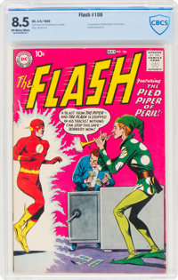 The Flash #106 (DC, 1959) CBCS VF+ 8.5 Off-white to white pages