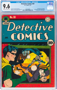 Detective Comics #59 (DC, 1942) CGC NM+ 9.6 Off-white to white pages