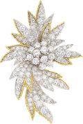 Estate Jewelry:Brooches - Pins, Diamond, Platinum, Gold Brooch . ...