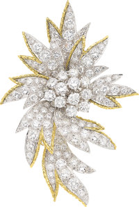 Diamond, Platinum, Gold Brooch