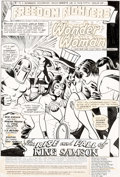 Original Comic Art:Splash Pages, Ramona Fradon, Vince Colletta, and Morris Waldinger Freedom Fighters #5 Splash Page 1 Wonder Woman Original Art (D...