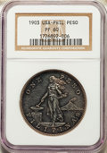 Philippines, Philippines: USA Administration Proof Peso 1903 PR60 NGC,...