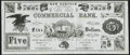 Obsoletes By State:New Hampshire, New Hampton, NH- New Hampton Institution / Commercial Bank $5 ND (ca. 1866-1870s) Very Fine.. ...