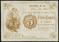 Obsoletes By State:New Hampshire, Union, NH- (Gilman/Tredick/Swinerton) 5¢ Dec. 15, 1862 Remainder Extremely Fine-About Uncirculated.. ...