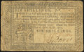 Pennsylvania April 10, 1777 6s Fine