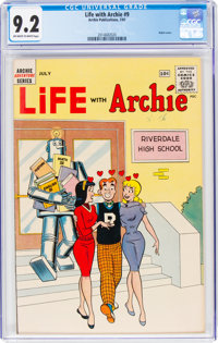 Life With Archie #9 (Archie, 1961) CGC NM- 9.2 Off-white to white pages