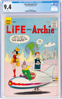 Life With Archie #11 (Archie, 1961) CGC NM 9.4 White pages