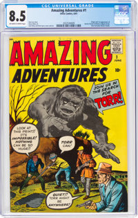 Amazing Adventures #1 (Marvel, 1961) CGC VF+ 8.5 Off-white to white pages