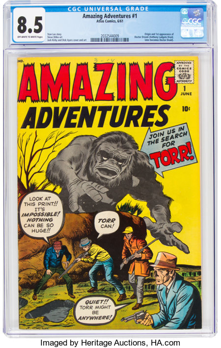 Amazing Adventures #1 (Marvel, 1961) CGC VF+ 8.5 Off-white to white pages....