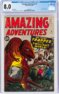 Amazing Adventures #3 (Marvel, 1961) CGC VF 8.0 Off-white pages