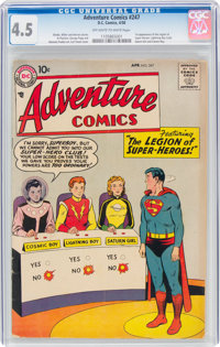 Adventure Comics #247 (DC, 1958) CGC VG+ 4.5 Off-white to white pages