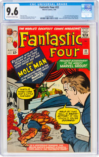 Fantastic Four #22 (Marvel, 1964) CGC NM+ 9.6 Off-white to white pages