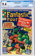 Silver Age (1956-1969):Superhero, Fantastic Four #25 (Marvel, 1964) CGC NM 9.4 Off-white to white pages....