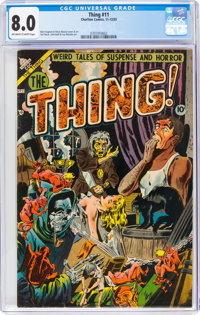 The Thing! #11 (Charlton, 1953) CGC VF 8.0 Off-white to white pages