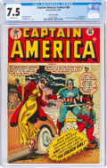 Golden Age (1938-1955):Superhero, Captain America Comics #66 Cosmic Aeroplane Pedigree (Timely, 1948) CGC VF- 7.5 Off-white pages....