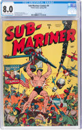 Golden Age (1938-1955):Superhero, Sub-Mariner Comics #9 (Timely, 1943) CGC VF 8.0 Light tan to off-white pages....