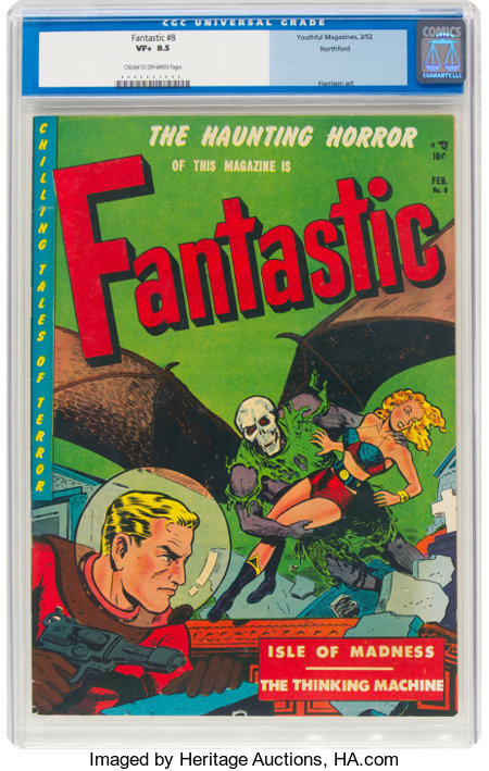 Fantastic #8 Northford Pedigree (Youthful Magazines, 1952) CGC VF+ 8.5 Cream to off-white pages....