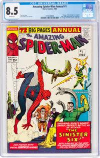 The Amazing Spider-Man Annual #1 (Marvel, 1964) CGC VF+ 8.5 White pages