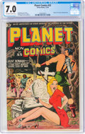 Golden Age (1938-1955):Science Fiction, Planet Comics #33 (Fiction House, 1944) CGC FN/VF 7.0 Off-white to white pages....
