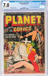 Planet Comics #33 (Fiction House, 1944) CGC FN/VF 7.0 Off-white to white pages