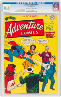 Adventure Comics #163 (DC, 1951) CGC NM 9.4 Off-white to white pages