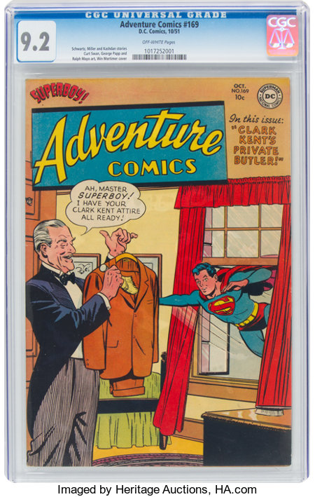 Adventure Comics #169 (DC, 1951) CGC NM- 9.2 Off-white pages....